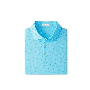 Men's Junior Printed Jellyfish Short Sleeve Polo
