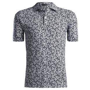 Men's Abstract Floral Short Sleeve Polo
