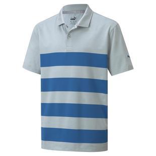 Boy's MATTR Kiwi Stripe Short Sleeve Polo
