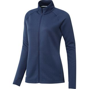 Women's Textured Layer Full Zip Sweater