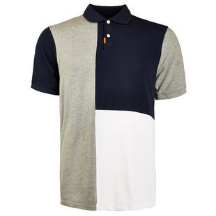Men's Colour Block Short Sleeve Polo