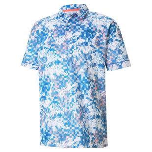 Men's Tech Pique Botanical Short Sleeve Polo