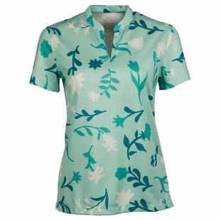 Women's Breathe Floral Print Short Sleeve Polo