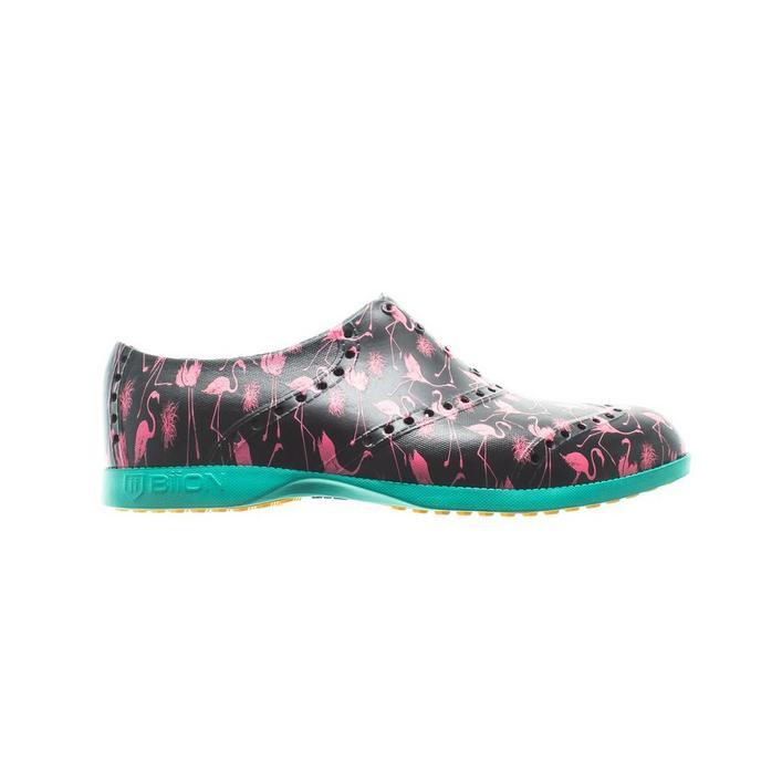 Chaussures Oxford Pattern sans crampons pour hommes - Flamant rose