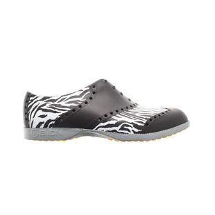 Men's Oxford Pattern Spikeless Shoe - Zebra