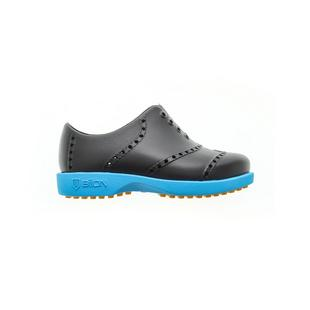 Kids Bright Spikeless Shoe - Black/Neon Blue