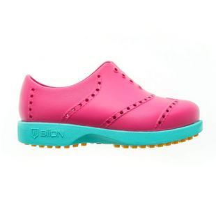 Kids Bright Spikeless Shoe - Magenta/Teal