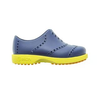 Kids Bright Spikeless Shoe - Navy/Green/Yellow
