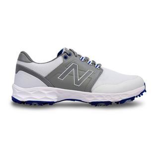Chaussures Fresh Foam Force à crampons pour hommes - Blanc/Gris/Bleu royal