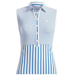 Women's Stripe Mix Sleeveless Polo