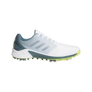 Chaussures ZG 21 à crampons pour hommes - Blanc/Noir/Jaune