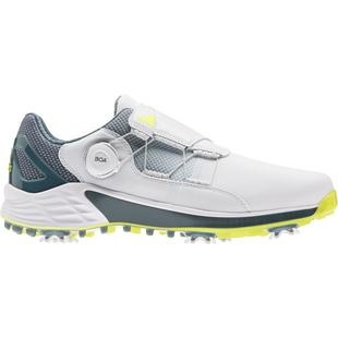 Men's ZG 21 Boa Spiked Golf Shoe - White/Grey/Yellow