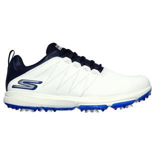 Chaussures Go Golf Pro 4 Legacy à crampons pour hommes - Blanc/Bleu marine