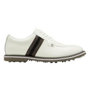 Men's Limited Edition Grosgrain Split Toe Gallivanter Spikeless Golf Shoe - White/Grey