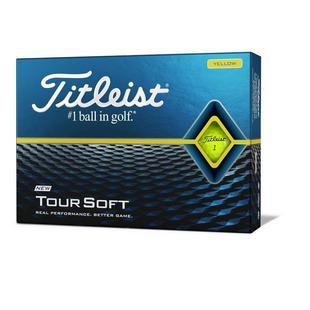 Tour Soft Personalized Golf Balls - Yellow