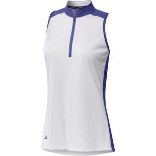 Women's HEAT.RDY Primeblue Colourblock Quarter Zip Sleeveless Polo
