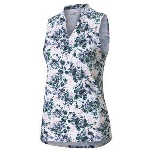 Women's Cloudspun Floral Tie Dye Sleeveless Polo