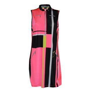 Women's Modern Plaid Print Sleeveless Dress