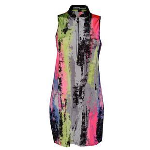 Women's Kyoto Print Mockneck Sleeveless Dress