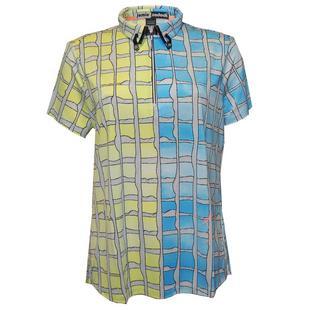 Women's Shibori Print Short Sleeve Top
