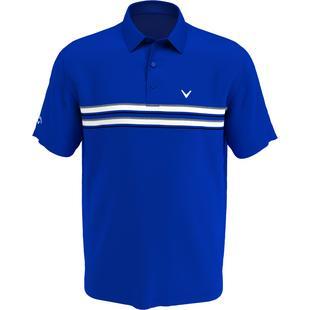 Men's Engineered Jaspe Chest Stripe Short Sleeve Polo