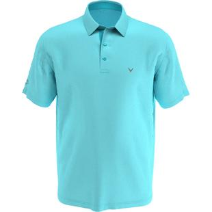 Men's All Over Gingham Printed Short Sleeve Polo