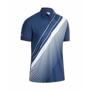 Men's Track Printed Short Sleeve Polo