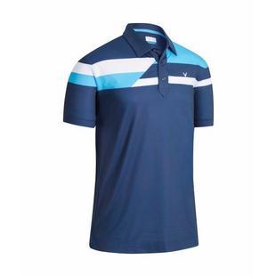 Men's Stacked Block Short Sleeve Polo