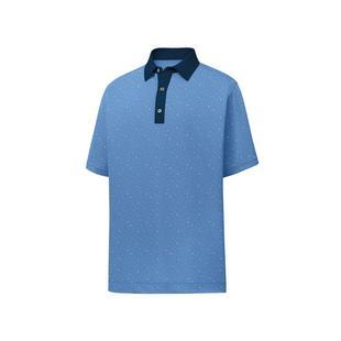 Men's Lisle Multi-Dot Print Short Sleeve Polo