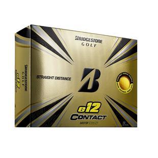 e12 Contact Golf Balls - Matte Yellow