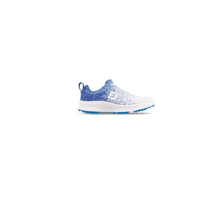 Women's Leisure Spikeless Shoe - White/Blue