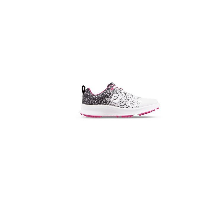 Women's Leisure Spikeless Shoe - Black/White