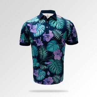 Men's Tropical Floral Short Sleeve Polo