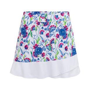 Jupe-short avec imprimé floral à volants pour femmes