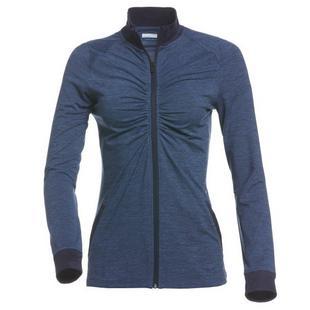 Women's Rib Collar Full Zip Jacket