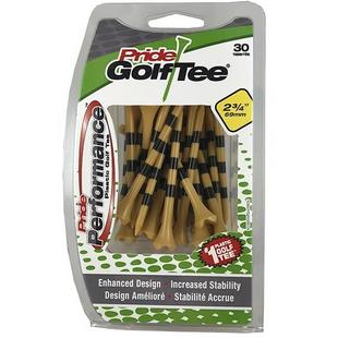 Pride Performance Natural with Stripes 2 3/4 Inch Tees (30 Count)