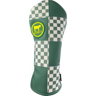 Green Checkered Flag Driver Headcover