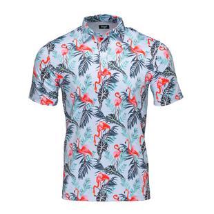 Men's Flamingo Island Short Sleeve Polo
