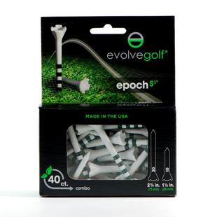 Combo de tés Epoch - Blanc/Vert (Paquet de 40)