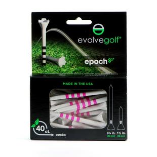 EPOCH White/Pink Tees Combo Pack (40 Count)