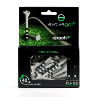 EPOCH White/Black Tees Combo Pack (40 Count)