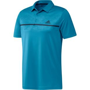 Men's Chest Print UPF Short Sleeve Polo