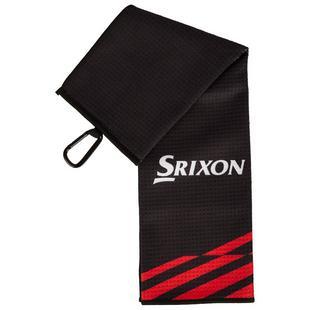 Serviette à trois plis - Noir et rouge