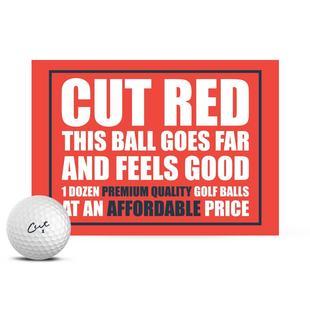 Cut Red Golf Balls