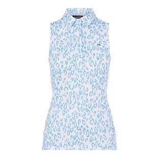 Women's Dena Animal Print Sleeveless Polo