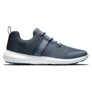 Men's Flex Spikeless Golf Shoe-Blue/Red