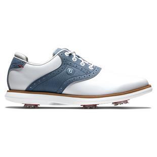 Chaussures Traditions à crampons pour femmes - Blanc/Bleu