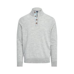 Men's Merino Button Mock Sweater