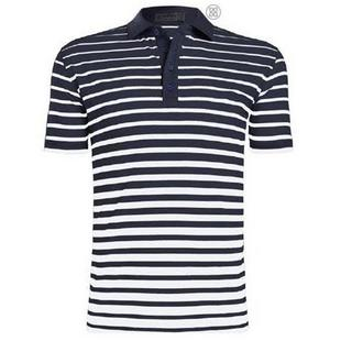 Men's Gradient Stripe Short Sleeve Polo