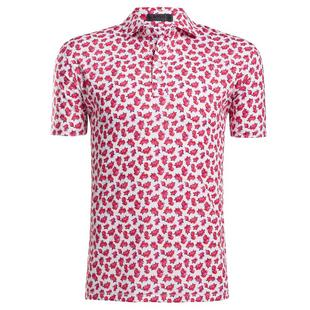 Men's Peony Floral Short Sleeve Polo